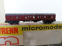 "Wrenn ""N"" Gauge No 315 ""BR Brake "" Coach -Maroon"