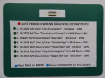 WRENN BASILDON LATE ISSUE PERIOD 4 LOCOMOTIVES - JUST IN