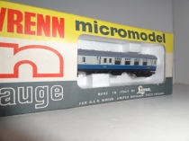 "Wrenn ""N"" Gauge No 306 ""British  Brake 2nd Class"" Coach - Blue/Grey"