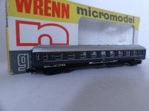 "Wrenn ""N"" Gauge No 301 ""Italian Railways "" 1st Class Coach - Dark Grey"