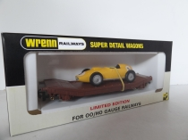 "Wrenn W.5512 ""Lowmac with 152 Car Load"" - Yellow  Racing Car - Limited Edition - P6"